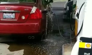 Gas Draining From Pump in Car
