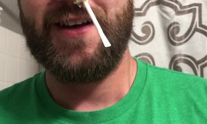 Man Waxes His Nose After Losing Bet with Wife