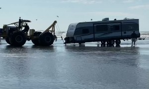 Saving Multiple Vehicles Stuck on the Beach