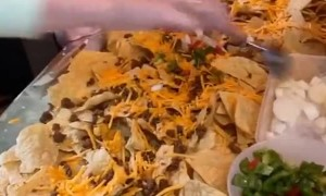 Family Creates Amazing Nacho Table