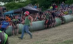 Rowdy Downhill Racing Event in Texas