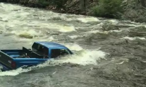 Truck Stuck in a Stream