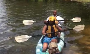Father-Daughter Kayak Trip Takes a Flip