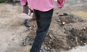 Fixing a Live Electrical Line in Chennai, India