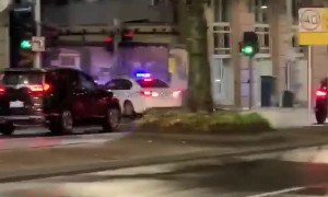 Man on Scooter Trying to Evade Police