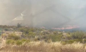 Close Encounter with a Sweeping Brush Fire