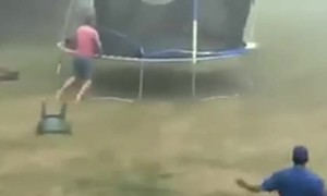Brother in Laws Brave Storm to Save Trampoline