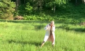 Running on Floating Grass in Lithuania