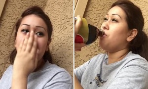 Woman tries Pepsi for the first time and can't hold back emotions
