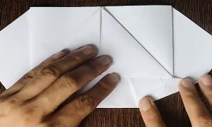 Paper Airplane Flaps its Wings Like a Bird