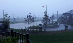 Lightning Strikes Transformer in Ontario