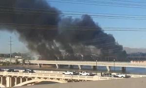 Bridge on fire in Tempe, Arizona