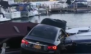 Car Landed on Boat