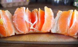 Learn the fastest way to peel an orange