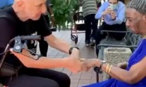 Heartwarming proposal at Amber Court Senior Living Center