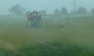 Massive Wind Storm Carries Away Kid's Club House