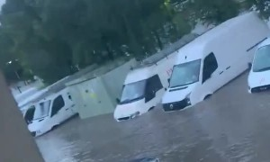 Extreme flooding causes massive damage near Falkirk, Scotland