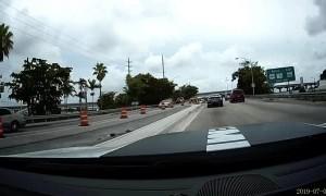Car Flips After Merging Mistake
