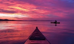 Kayaking under a Breathtaking Croatian Sunset