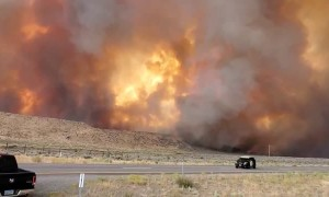 Loyalton Fire near Nevada-California border heading towards 395