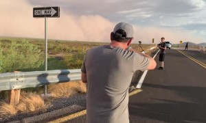 Dust Storm Rolling Across Arizona