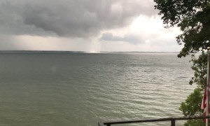Water Spout Spins Along Minnesota Lake