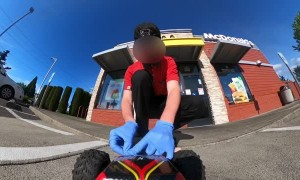 Using an RC Car to Snag Some Fast Food