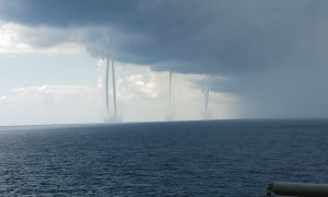 Five Waterspouts in the Gulf of Mexico