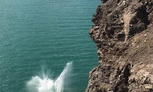 Full Send Cliff Dive Leads to Back Flop