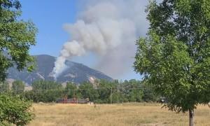 Wildfire Engulfs Montana Mountain Range