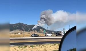 Rolling Smoke from Bridger Ranges Fire