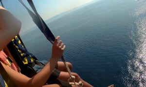 Parachute Cable Snaps during Parasailing Venture
