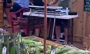 House DJ Brings Beats to Shoppers at Grocery Store