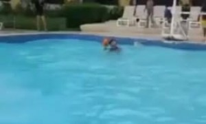 Kid running on water pulls off epic trick shot