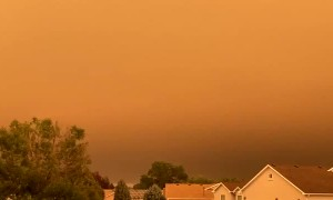 The view from Greeley, Colorado of the fires is truly apocalyptic