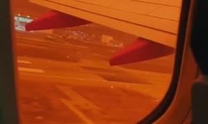 Flight passenger captures San Francisco's orange sky caused by wildfires