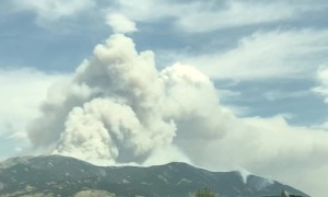 Time Lapse Footage of Bridger Foothills Fire