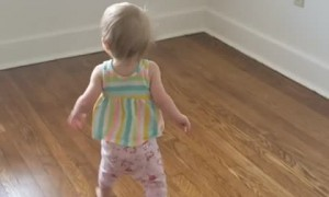 Daughter Running and Giggling Around the New Place