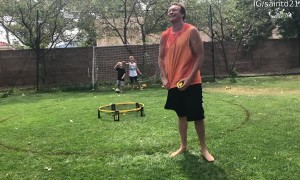 Giggling Boys Play as Goalkeepers