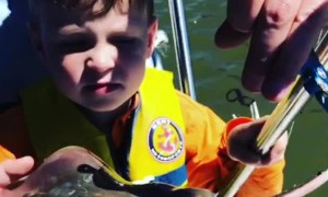 5 Year Old Mistakes Stingray Anatomy during Fishing Trip