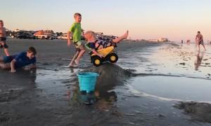 Tonka Truck Lift Off at the Beach