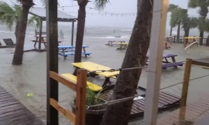 Storm Surge Smashes Pier Apart