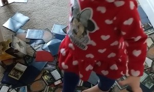 Kid Makes a Mess of Dad's Magic Cards