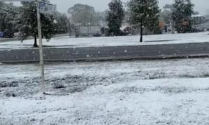 Rare Spring Snow Falling in Australia