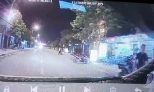 Close Call When Kid Runs into Street
