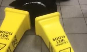 Wet Floor Signage Make Slippery Stilts