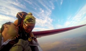 Riding the Wing of a Glider
