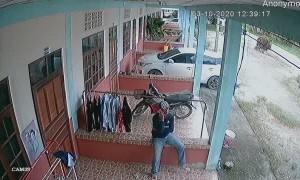 Suspicious Man Caught Shoving Clothes Down His Trousers