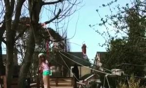 Family builds backyard ski resort during Covid lockdown