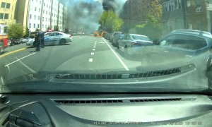 Sudden Car Fire Spreads Rapidly